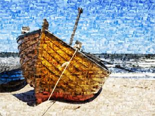 Barca come foto mosaico