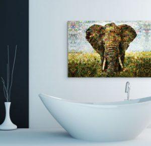 bagno alluminio dibond_esempio elefante