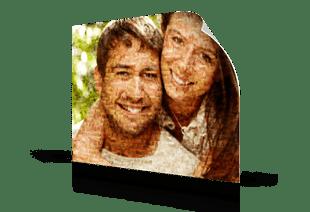 foto mosaico coppia su poster