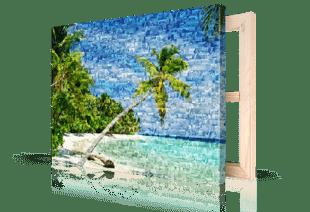 foto mosaico spiaggia stampato su tela