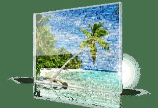 foto mosaico spiaggia_stampato su plexiglass