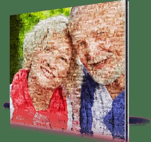 foto mosaico stampato su alluminio_esempio nonni