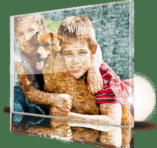 foto mosaico stampato su plexiglass_esempio bambini