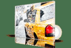 foto mosaico stampato su plexiglass_esempio taxi