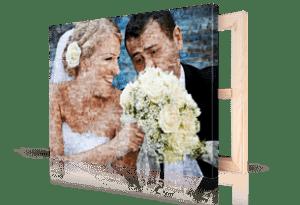 foto mosaico stampato su tela_esempio coppia matrimonio