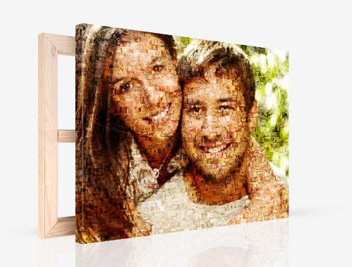 foto su tela con mosaico_esempio coppia