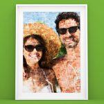 fotoposter con mosaico_esempio coppia vacanza