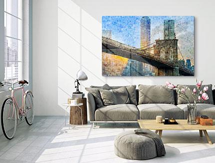 mosaico acrilico soggiorno
