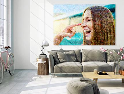 poster del mosaico soggiorno