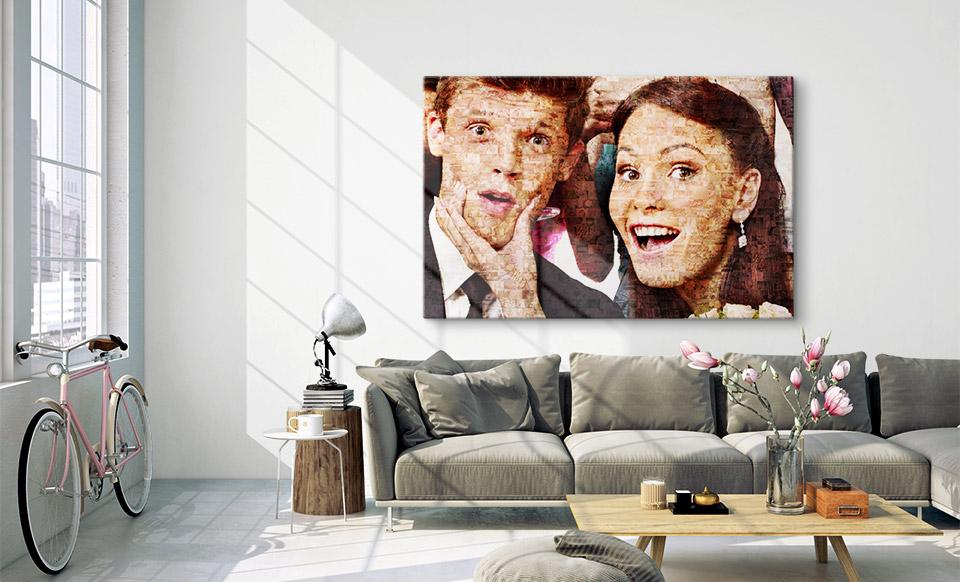 quadro con tante foto appartamento