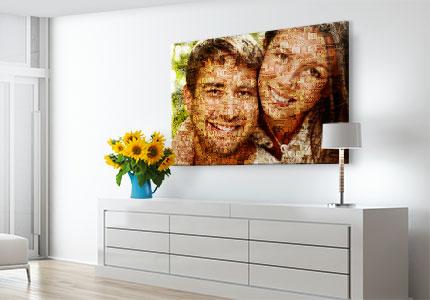 stampa su tela mosaico appartamento piccolo