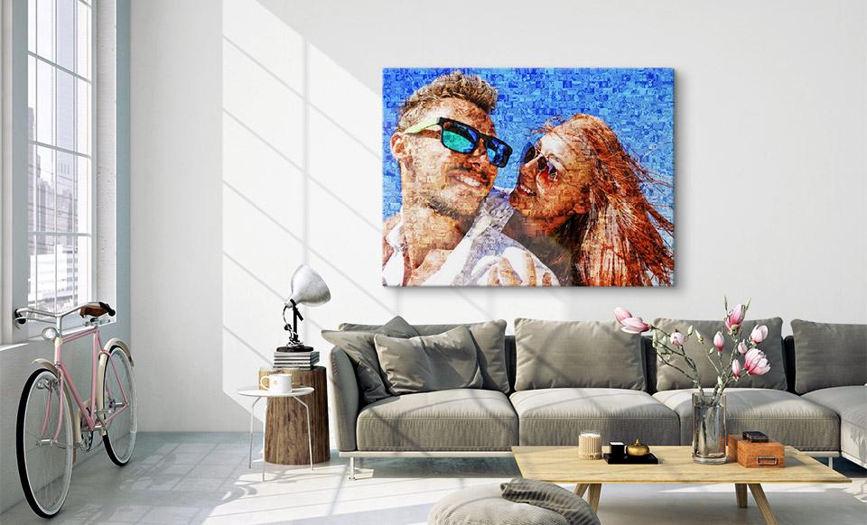 stampa su tela mosaico appartamento