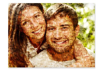 stampa su tela mosaico vista