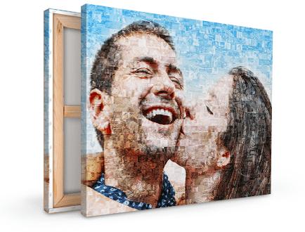 tela mosaico coppia