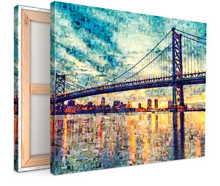 vista_mosaico su tela_esempio ponte