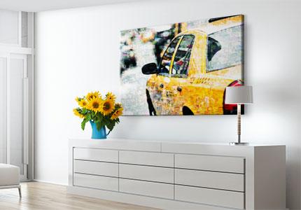 wohnraum mosaik acrylglas taxi